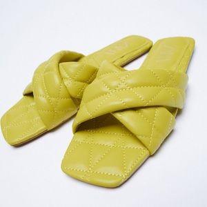 Zara New Flat Squared Toe Shoes, size 7.5